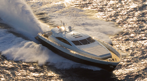 Motor yacht CELESTE -  Running Shot